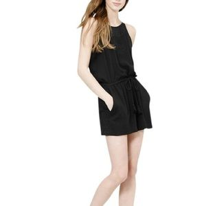 LOFT - Black Sleeveless Romper With Tassels